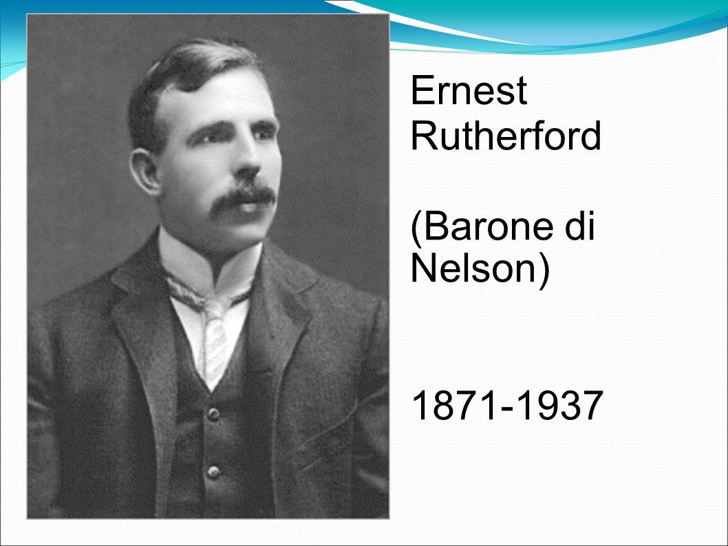 Nel 1911 Ernest Rutherford annuncia la sua scoperta della struttura dellatomo, Nel 1908,hanno assegnato il premio Nobel per la chimica, per sue le ricerche sulla disintegrazione degli elementi e la chimica delle sostanze radioattive.