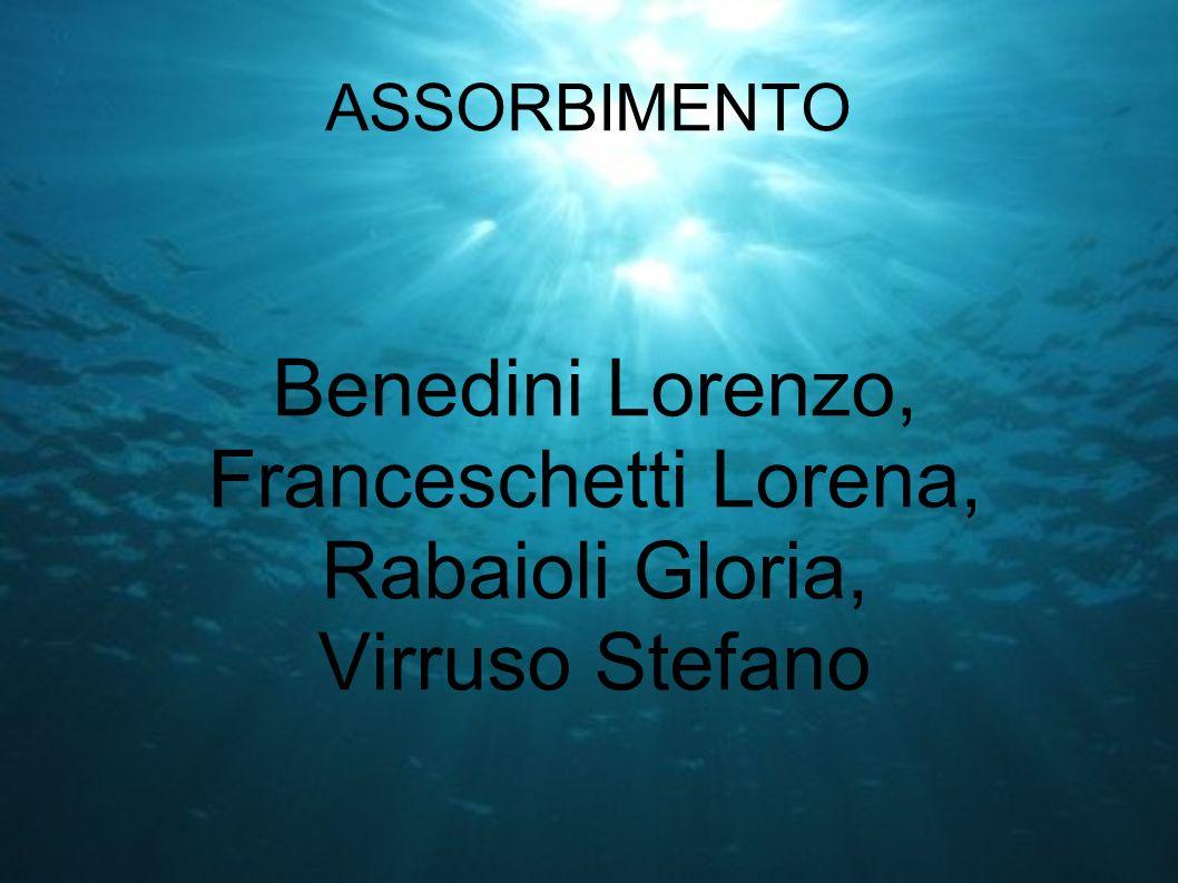 ASSORBIMENTO Benedini Lorenzo, Franceschetti Lorena, Rabaioli Gloria, Virruso Stefano