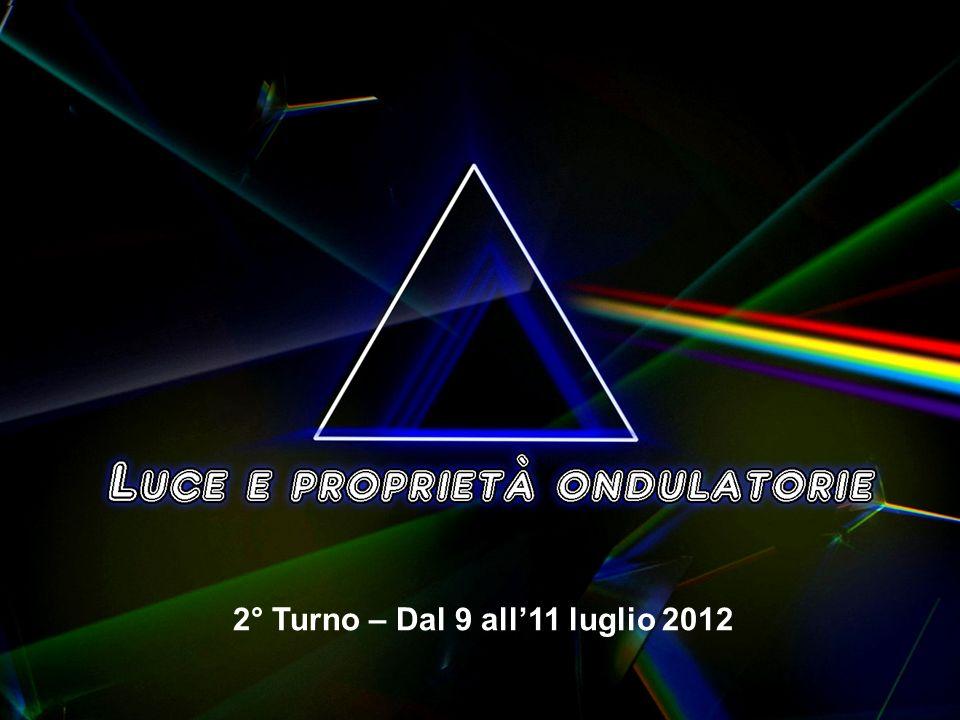 2° Turno – Dal 9 all11 luglio 2012