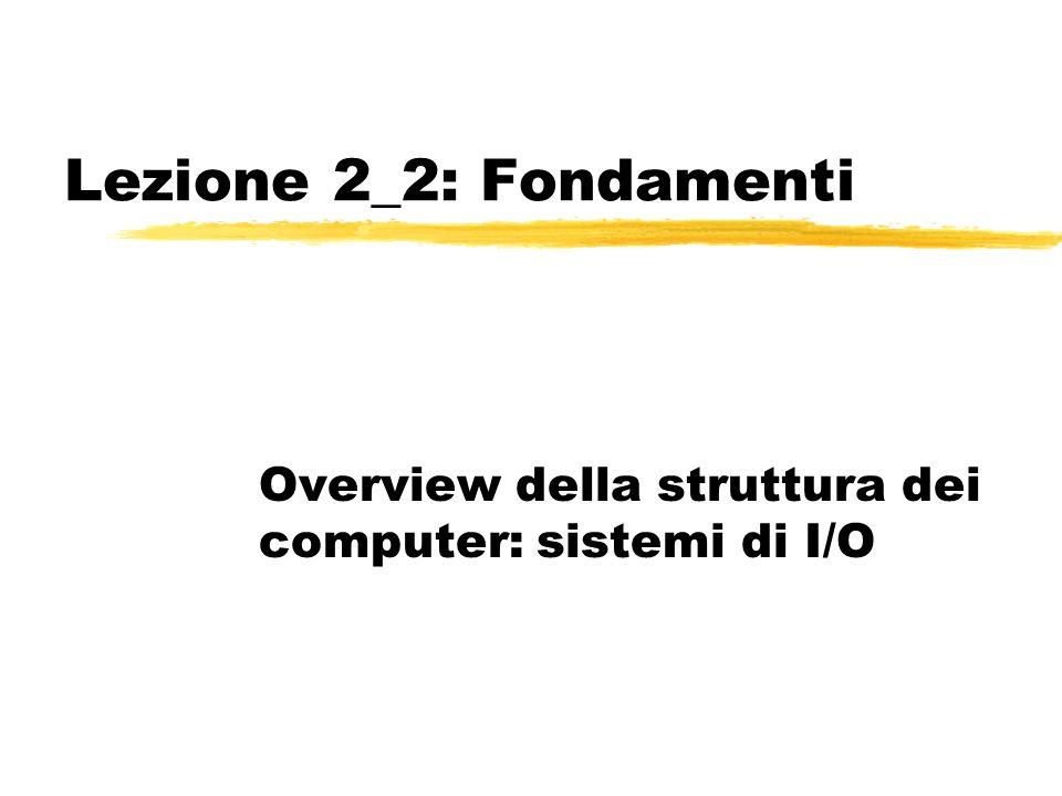 Lezione 2_2: Fondamenti Overview della struttura dei computer: sistemi di I/O