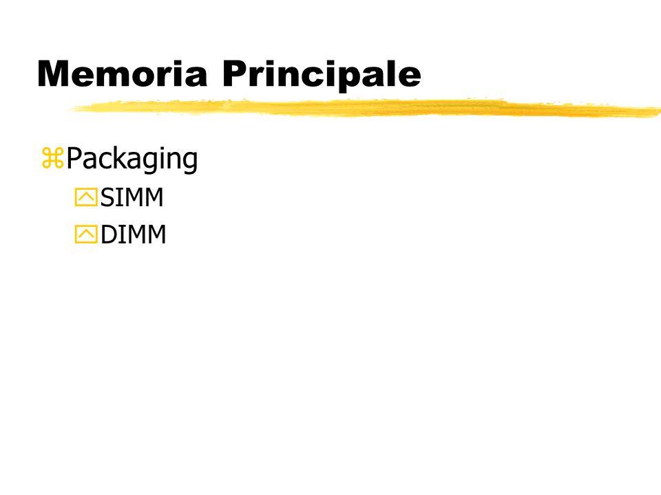 Memoria Principale zPackaging ySIMM yDIMM