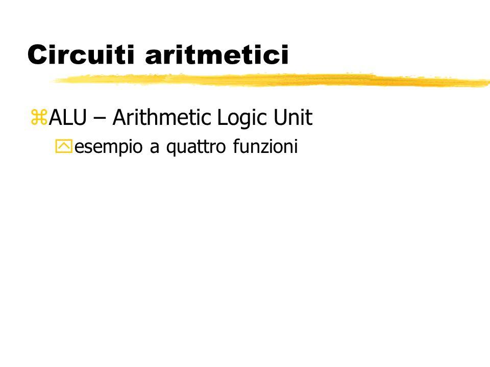 Circuiti aritmetici zALU – Arithmetic Logic Unit yesempio a quattro funzioni