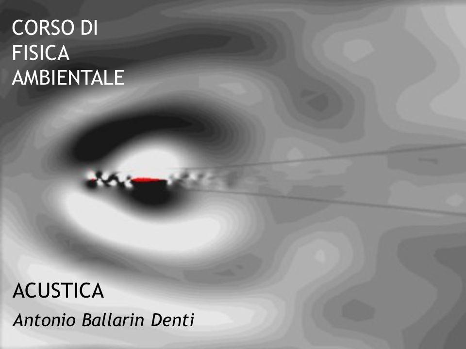 ACUSTICA Antonio Ballarin Denti CORSO DI FISICA AMBIENTALE