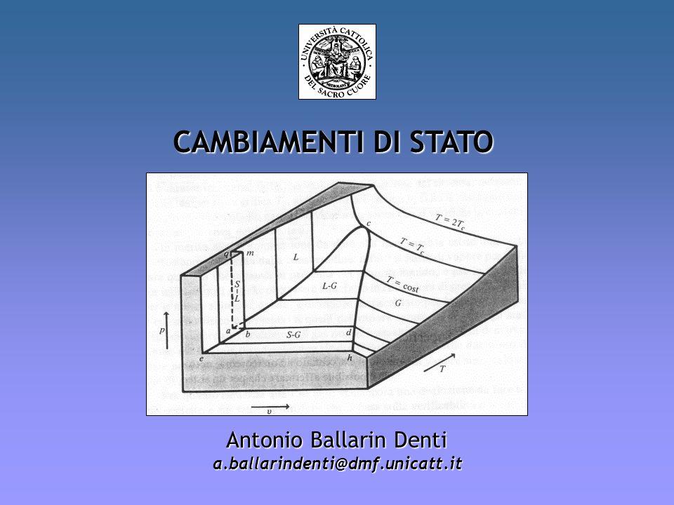 CAMBIAMENTI DI STATO Antonio Ballarin Denti a.ballarindenti@dmf.unicatt.it