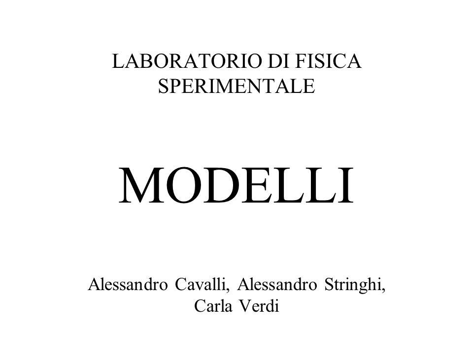 LABORATORIO DI FISICA SPERIMENTALE MODELLI Alessandro Cavalli, Alessandro Stringhi, Carla Verdi