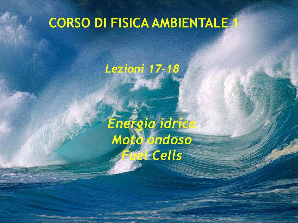 Energia idrica Moto ondoso Fuel Cells Lezioni 17-18 CORSO DI FISICA AMBIENTALE 1