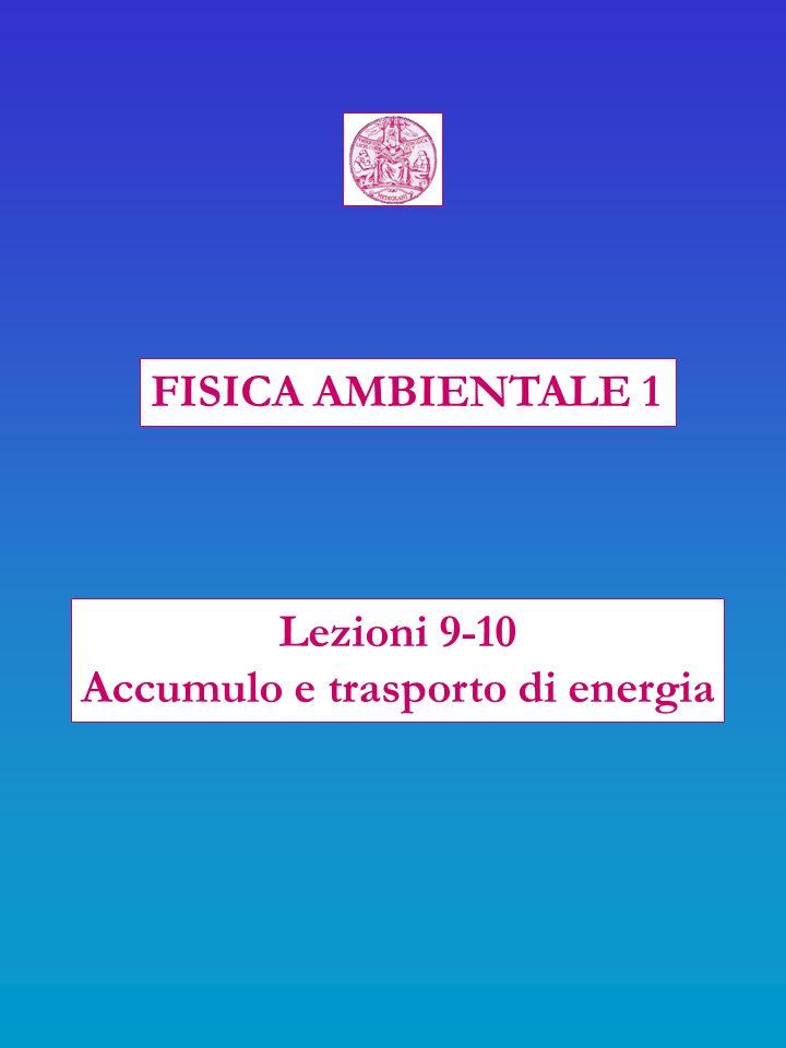 FISICA AMBIENTALE 1 Lezioni 9-10 Accumulo e trasporto di energia