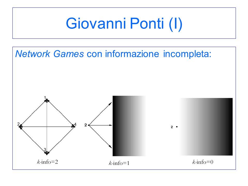 Giovanni Ponti (I) Network Games con informazione incompleta: