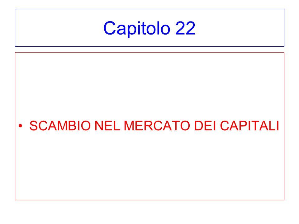 Capitolo 22 SCAMBIO NEL MERCATO DEI CAPITALI