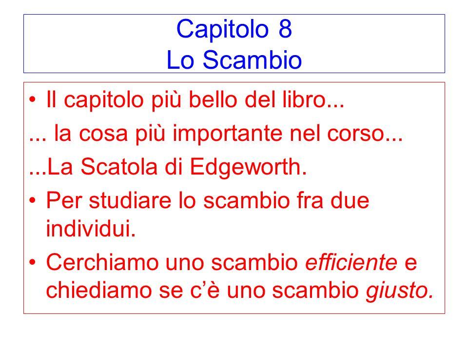 Capitolo 8 Lo Scambio Il capitolo più bello del libro......