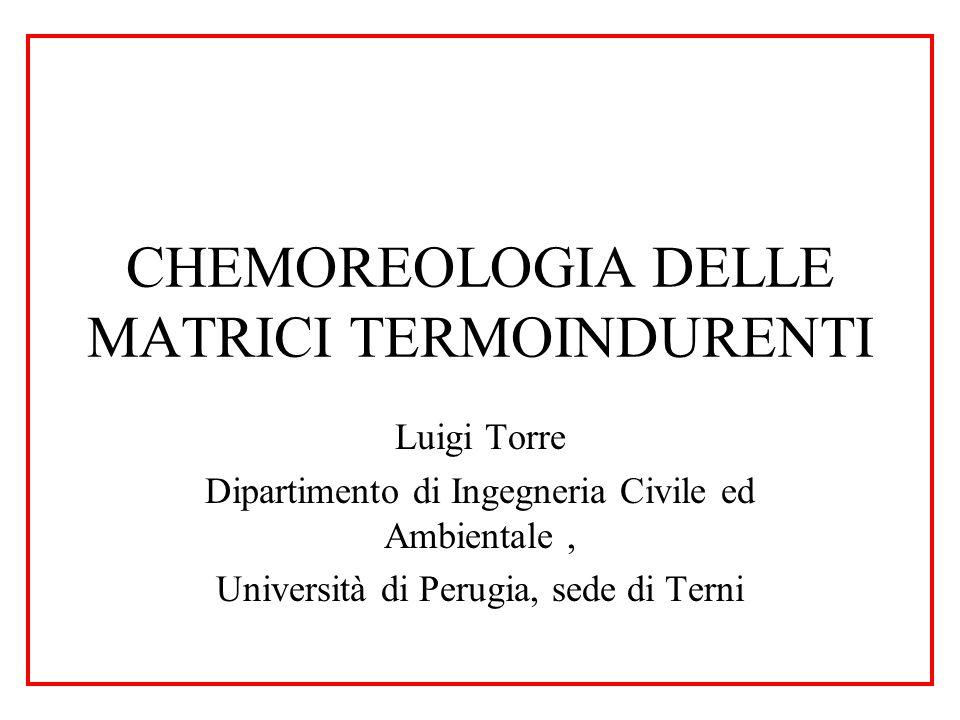 CHEMOREOLOGIA DELLE MATRICI TERMOINDURENTI Luigi Torre Dipartimento di Ingegneria Civile ed Ambientale, Università di Perugia, sede di Terni