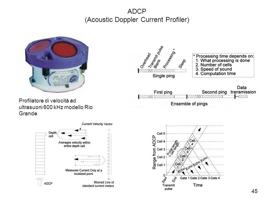 45 ADCP (Acoustic Doppler Current Profiler) Profilatore di velocità ad ultrasuoni 600 kHz modello Rio Grande
