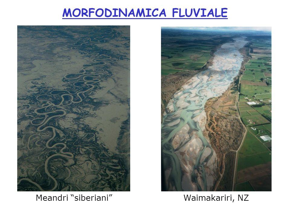 Meandri siberiani MORFODINAMICA FLUVIALE Waimakariri, NZ