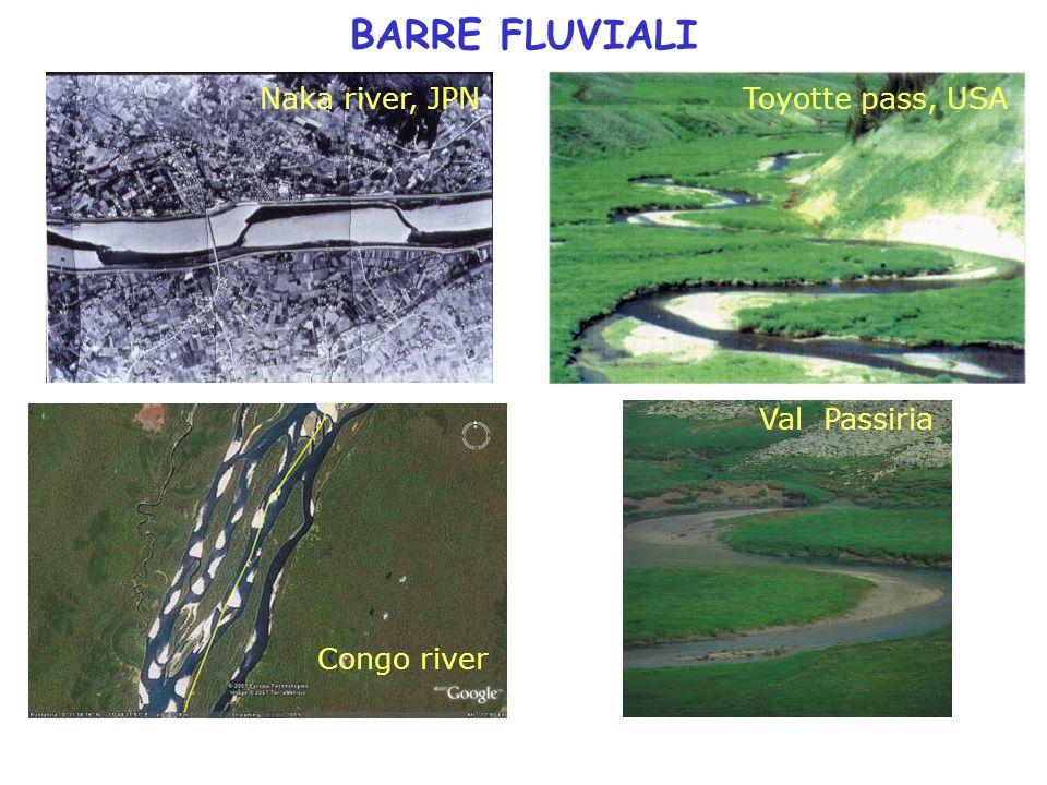 BARRE FLUVIALI Naka river, JPNToyotte pass, USA Val Passiria Congo river