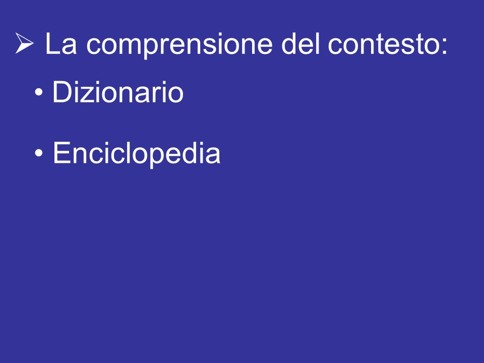 La comprensione del contesto: Dizionario Enciclopedia