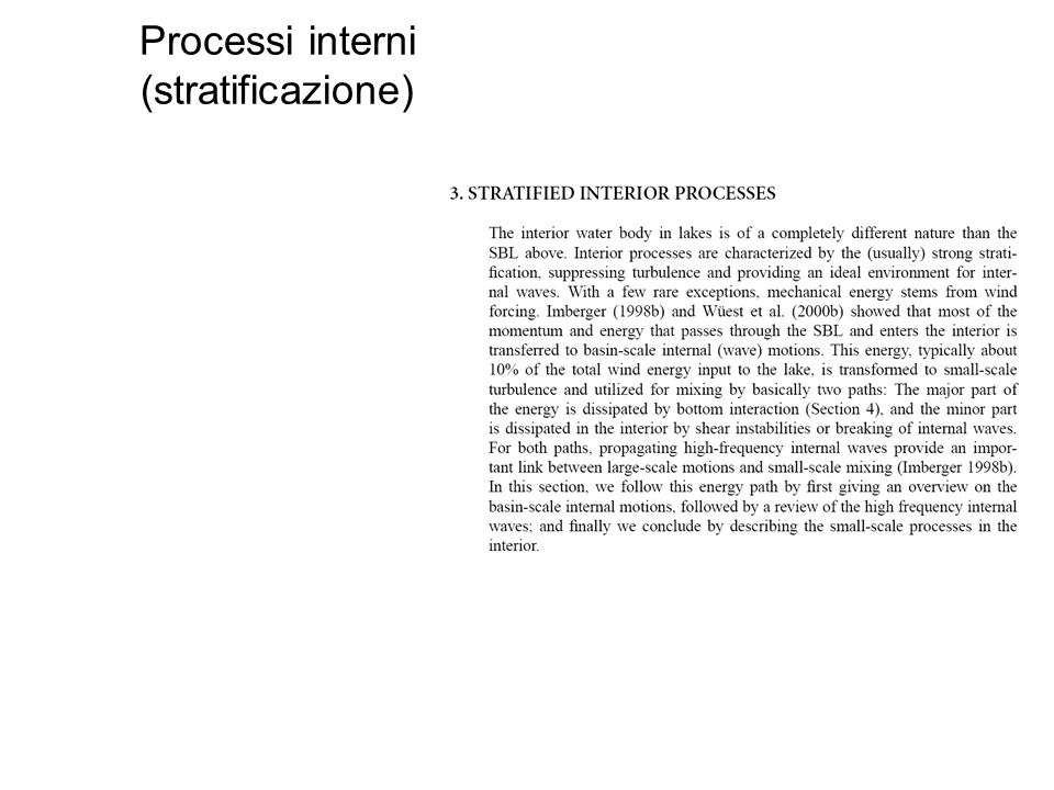 Processi interni (stratificazione)