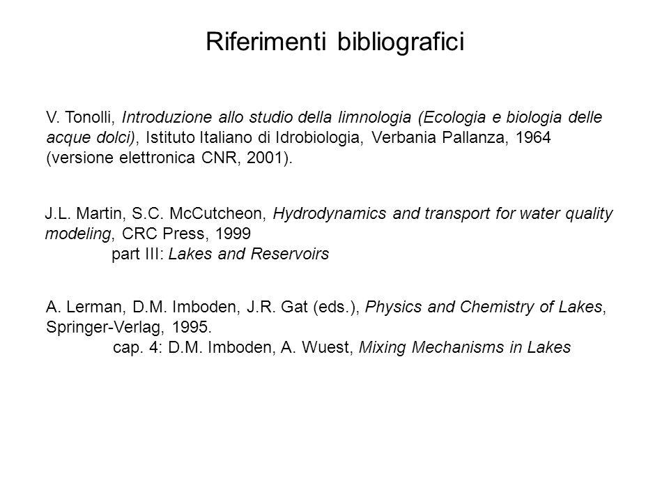 Riferimenti bibliografici V.