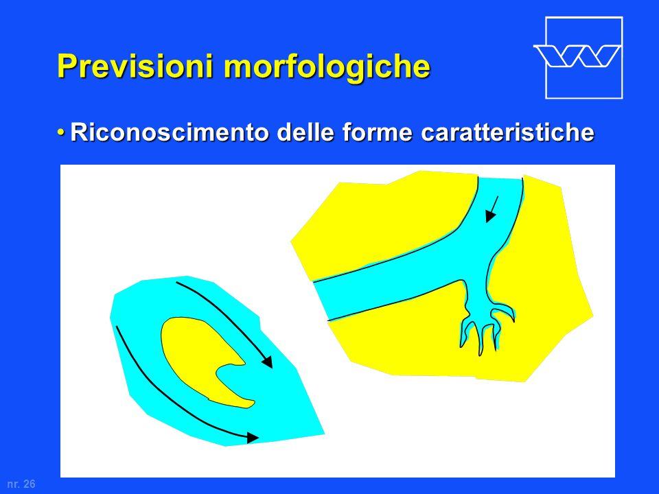 nr. 26 Previsioni morfologiche Riconoscimento delle forme caratteristicheRiconoscimento delle forme caratteristiche