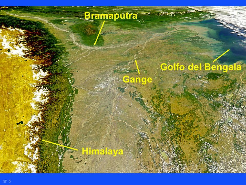 nr. 5 Bramaputra Himalaya Gange Golfo del Bengala