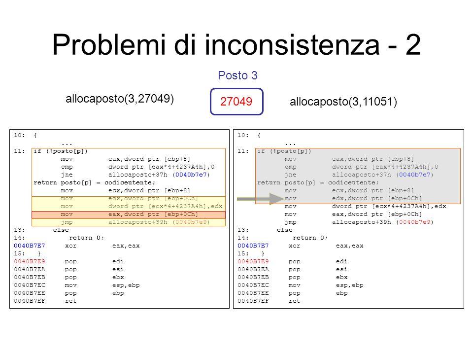 Problemi di inconsistenza - 2 10: {...