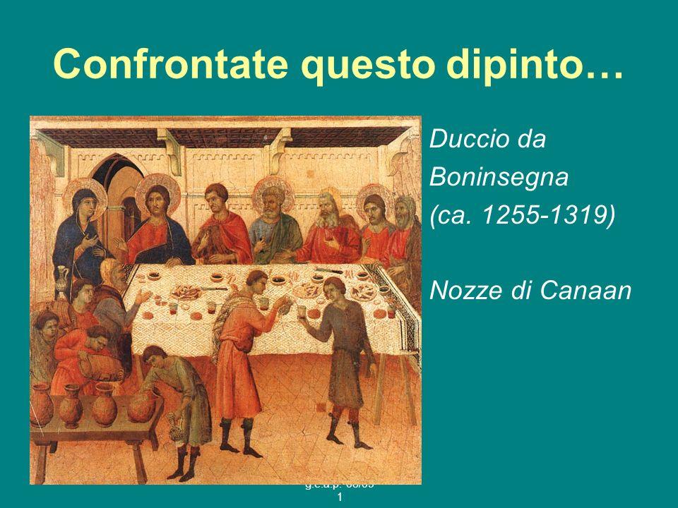 g.e.a.p. 08/09 1 Confrontate questo dipinto… Duccio da Boninsegna (ca. 1255-1319) Nozze di Canaan