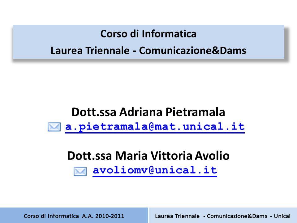 Corso di Informatica A.A.