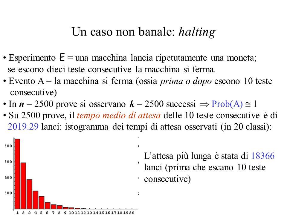 La legge empirica del caso Esperimento E = lancio due dadi.