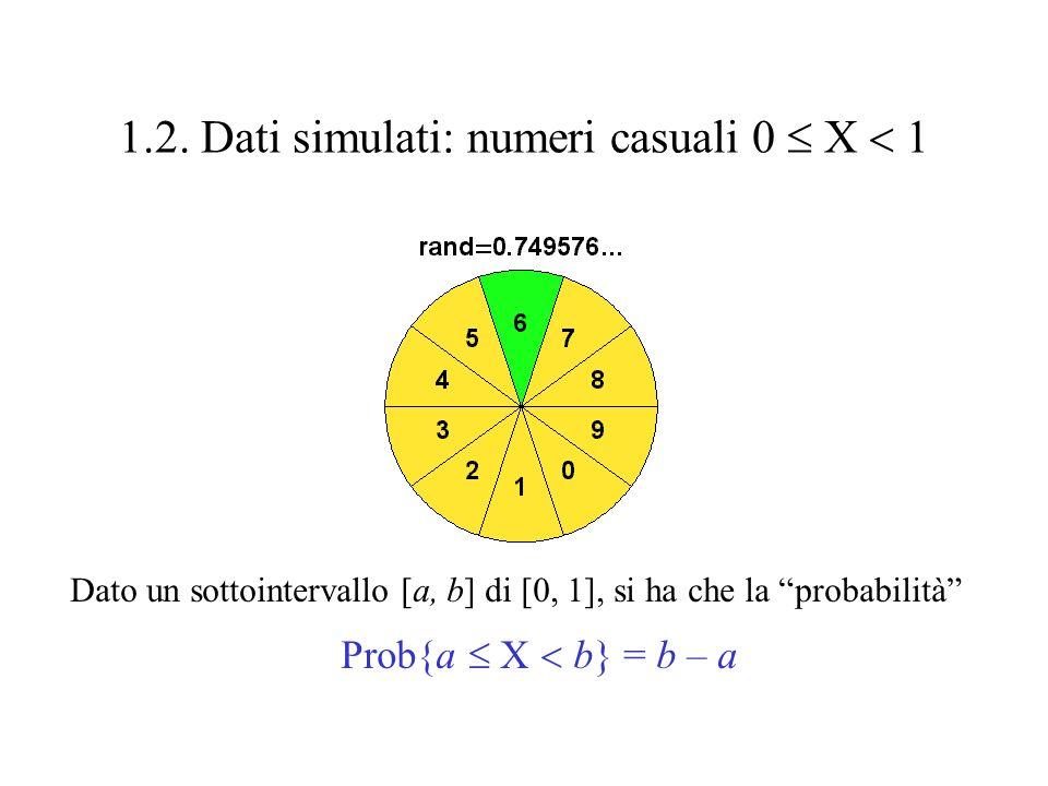1.1. Dati sperimentali 1.1.1. Scale di misura Scala nominale: sesso (M, F), fattore Rh (+, -),...