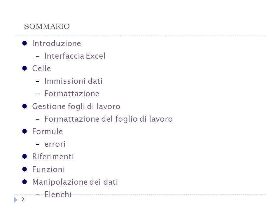 Introduzione Cosè Excel.