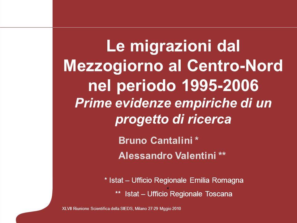 I tassi specifici di migratorietà dal Sud v.