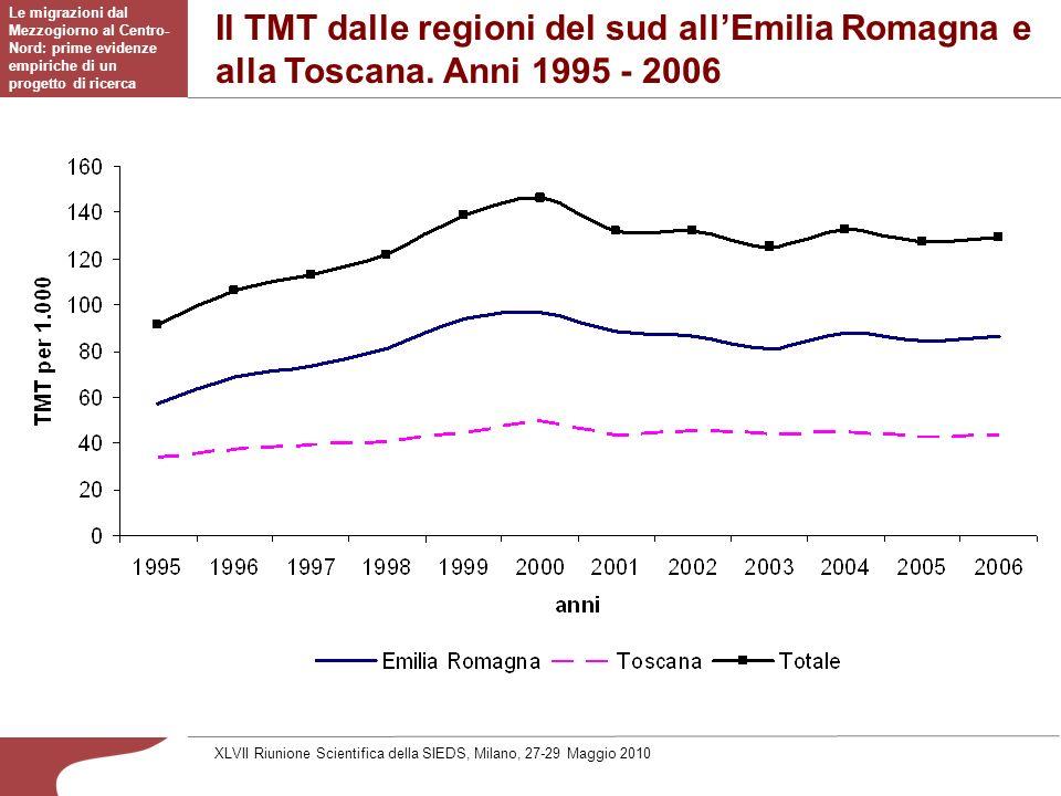 Il TMT dalle regioni del sud allEmilia Romagna e alla Toscana.