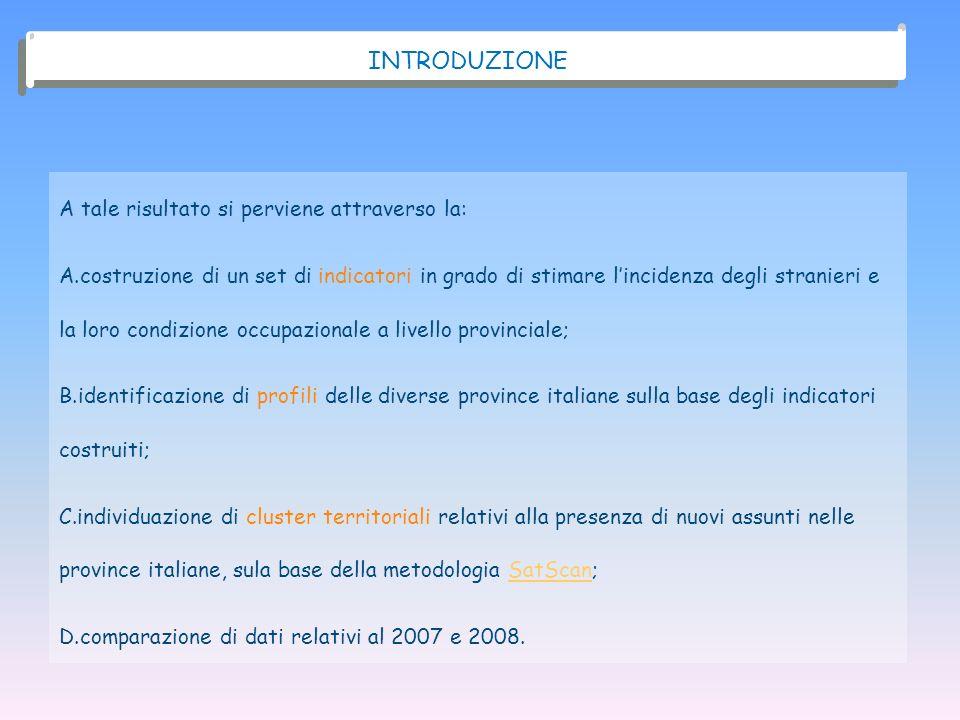 I FENOMENI MIGRATORI IN ITALIA PRESENZA STRANIERA 2007 2008 3.432.651 3.891.295 OCCUPATI STRANIERI 2.704.450 2.998.462 ASSUNTI STRANIERI 1.320.608 1.346.626 NUOVI ASSUNTI STRANIERI 599.466 444.941 + 13,4%+ 10,9%+ 2,0%- 25,8% Fonte: demo.istat.it ; Banca dati Inail (anni 2007-2008).