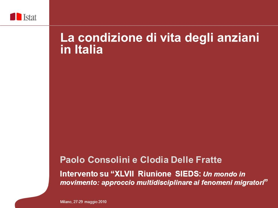 Paolo Consolini e Clodia Delle Fratte Intervento su XLVII Riunione SIEDS: Un mondo in movimento: approccio multidisciplinare ai fenomeni migratori La