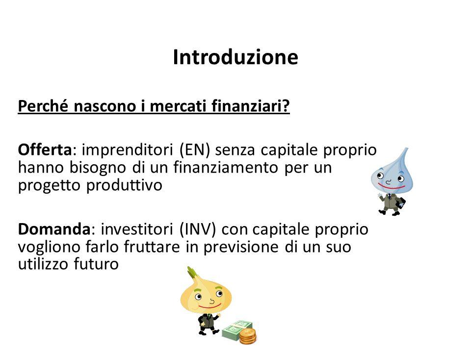 Introduzione Perché nascono i mercati finanziari.