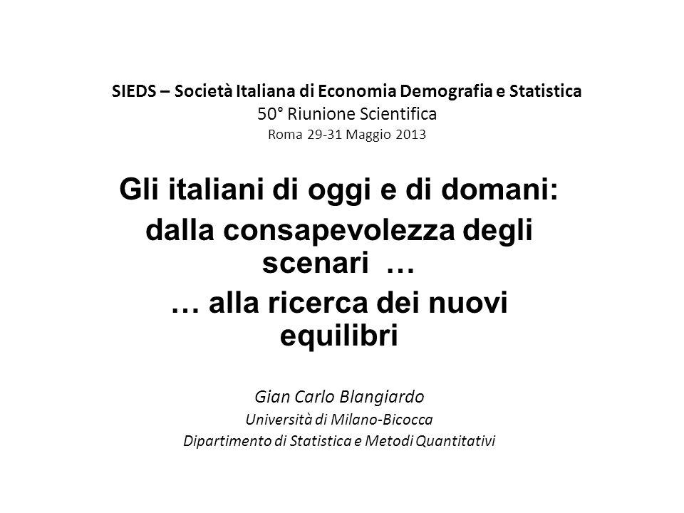 Popolazione di riferimento Fasi del ciclo di vita Formazione 0-19 anni Lavoro 20-66 anni Pensione 67+Totale Totale residenti al Censimento 2011 116,31335,3926,92378,5 di cui stranieri 11,9127,766,4206,0 Totale residenti al 1.1.2031 111,51292,21146,12549,7 di cui stranieri 24,8260,7183,6469,1 Patrimonio demografico della popolazione italiana specificato per fasi del ciclo di vita secondo la struttura per sesso ed et à al Censimento 2011 e al 1° gennaio 2031 (in milioni di anni-vita) Fonte: elaborazioni su dati Istat.
