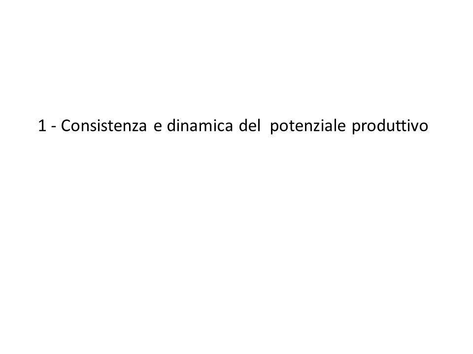 1 - Consistenza e dinamica del potenziale produttivo