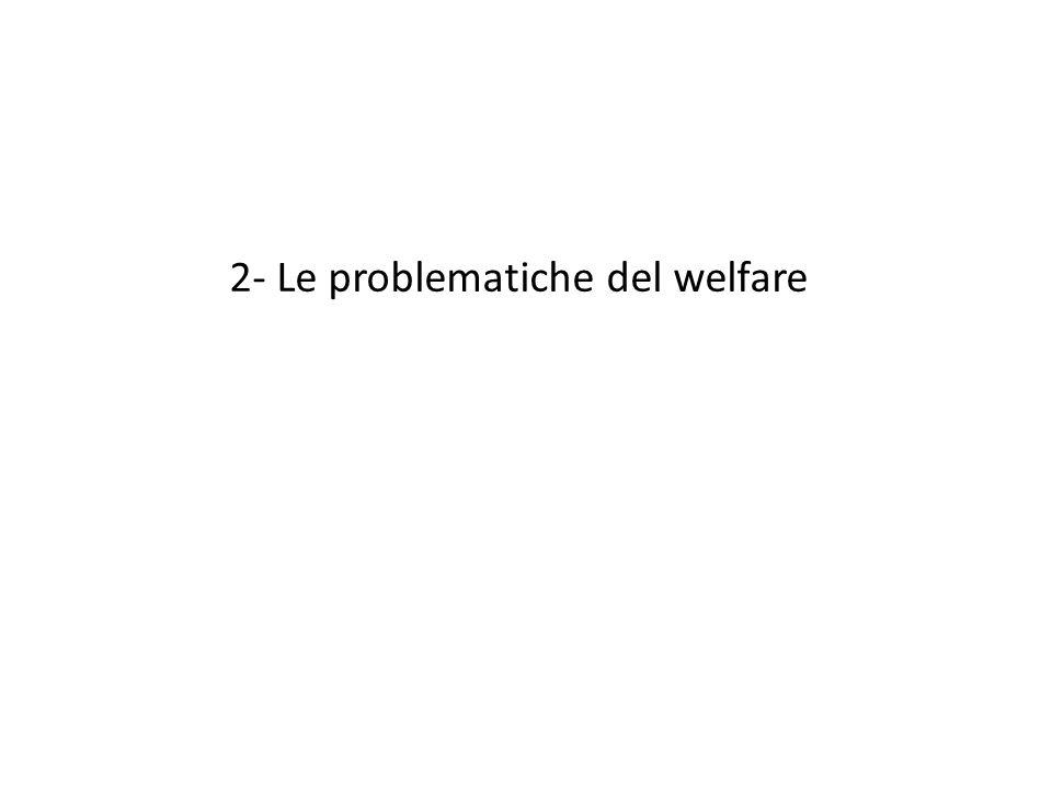 2- Le problematiche del welfare