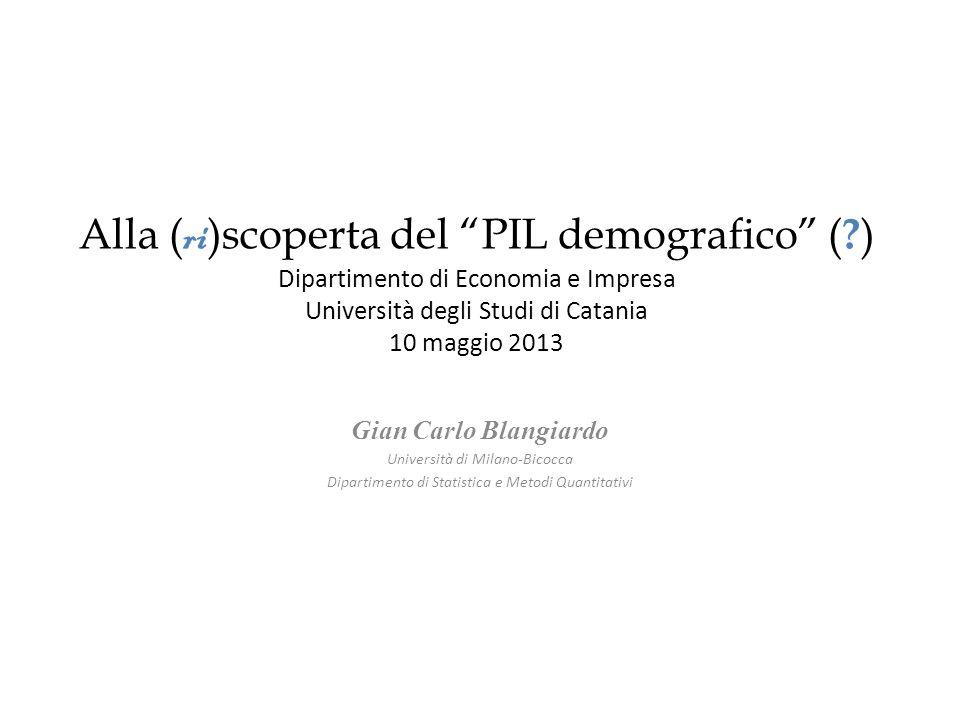 Alla ( ri )scoperta del PIL demografico ( .