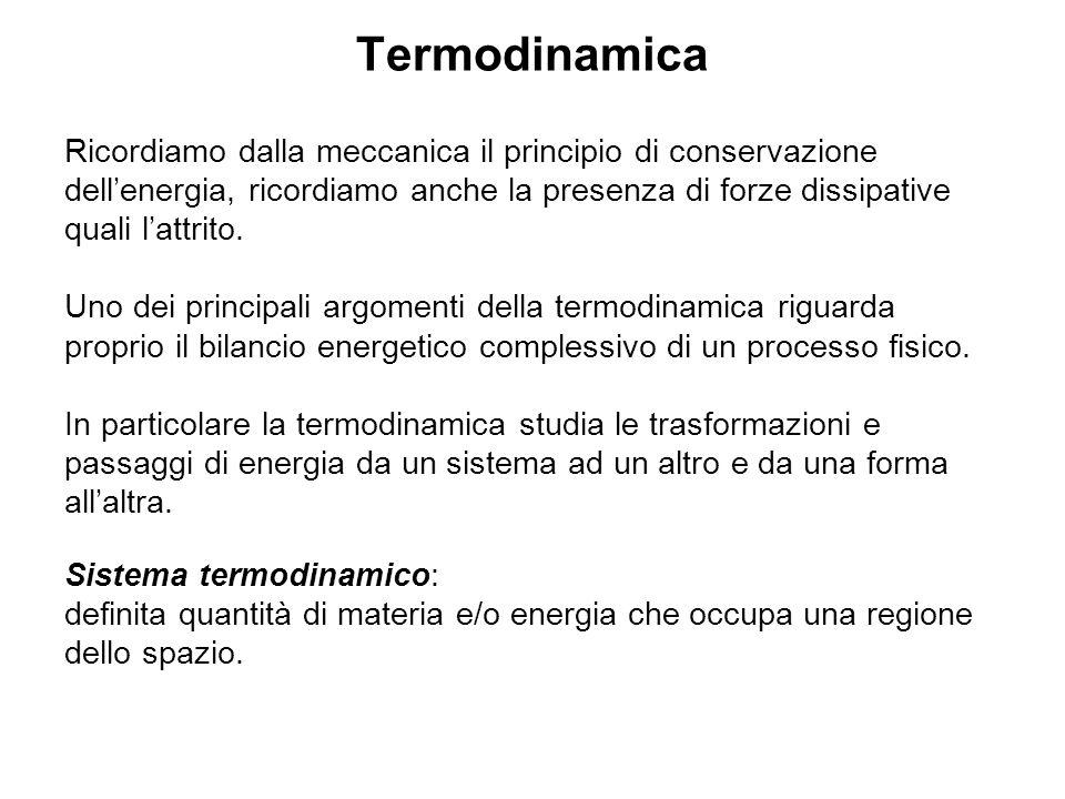 Capacità termica, calore specifico La relazione può essere scritta in termini infinitesimi.