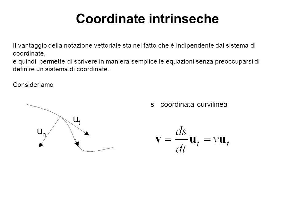 Il vantaggio della notazione vettoriale sta nel fatto che è indipendente dal sistema di coordinate, e quindi permette di scrivere in maniera semplice