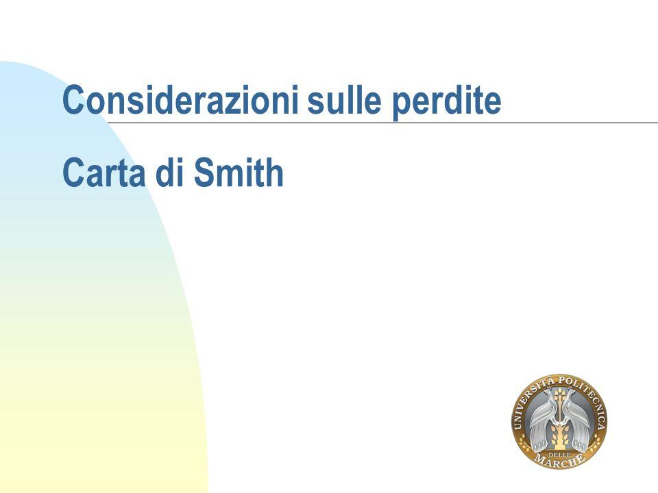 Considerazioni sulle perdite Carta di Smith