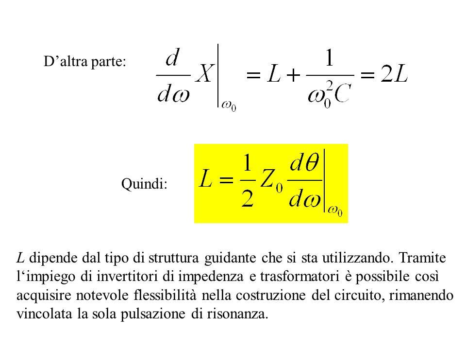 Se la lunghezza elettrica del tratto di linea è pari a alla pulsazione di risonanza 0, sviluppando X( ) in serie di Taylor attorno a = e arrestando lo