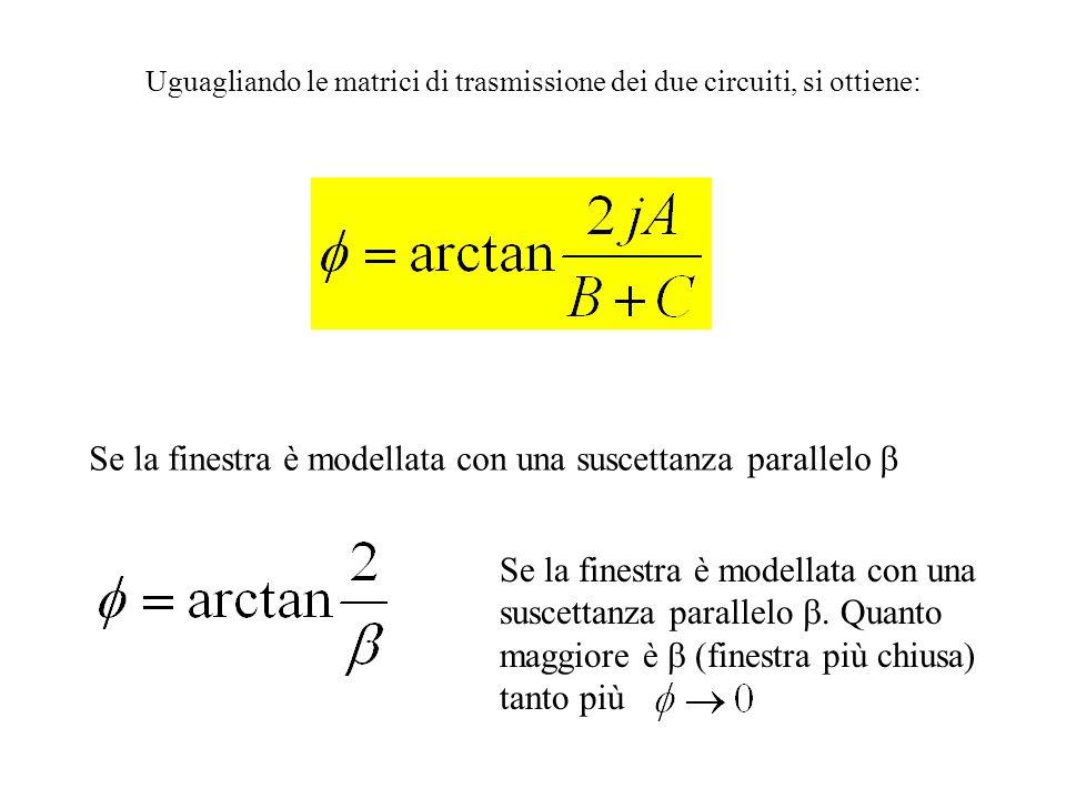 Nel caso in cui le guide a dx e sx della finestra siano uguali: La simmetria della finestra implica A=D