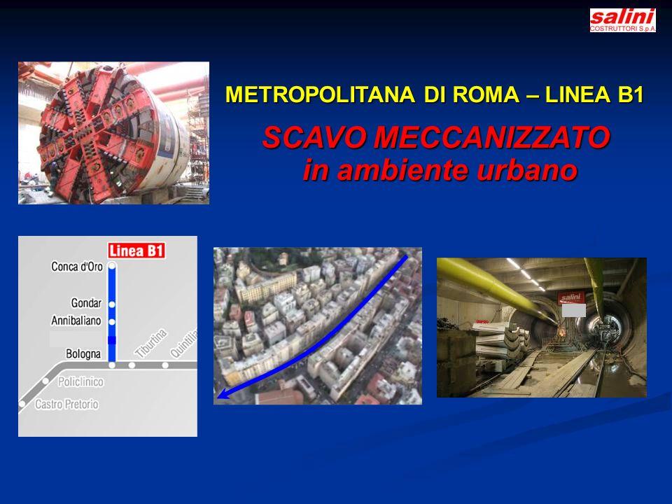METROPOLITANA DI ROMA – LINEA B1 SCAVO MECCANIZZATO in ambiente urbano in ambiente urbano