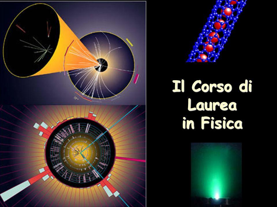 Il Corso di Laurea in Fisica