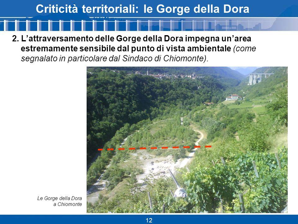 12 Criticità territoriali: le Gorge della Dora 2.