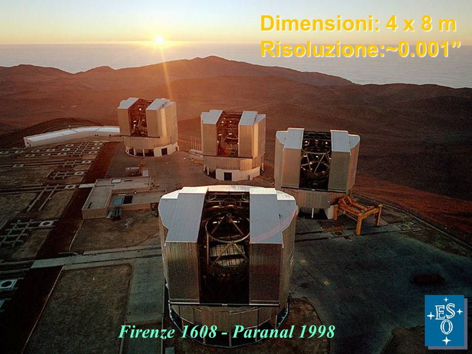 27 nov 2009F.Strafella10 NEON Summer school - Sep. 2006 - 03/02/2014 - Slide 10 TOOLS OF CONTEMPLATION Firenze 1608 - Paranal 1998 Dimensioni: 4 x 8 m