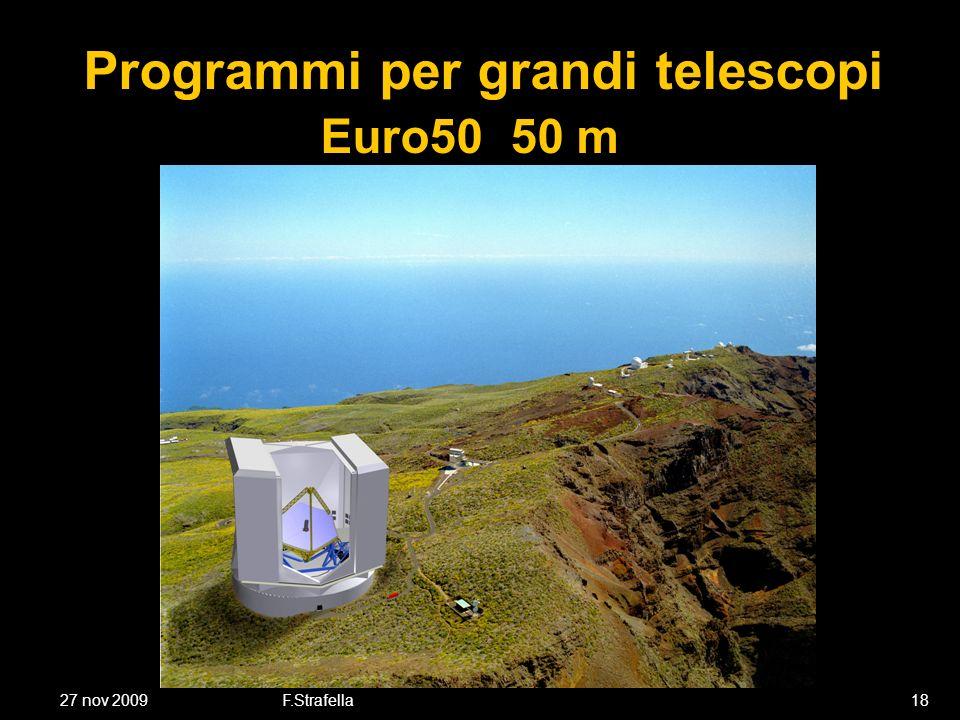 27 nov 2009F.Strafella18 Programmi per grandi telescopi Euro50 50 m