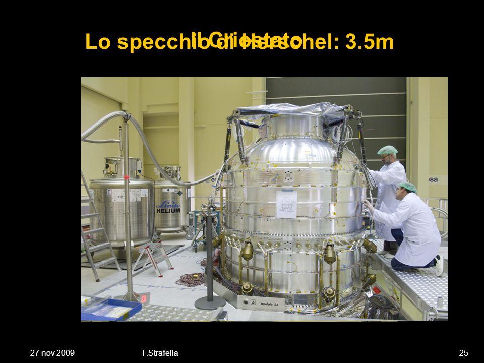 27 nov 2009F.Strafella25 Lo specchio di Herschel: 3.5m Il Criostato