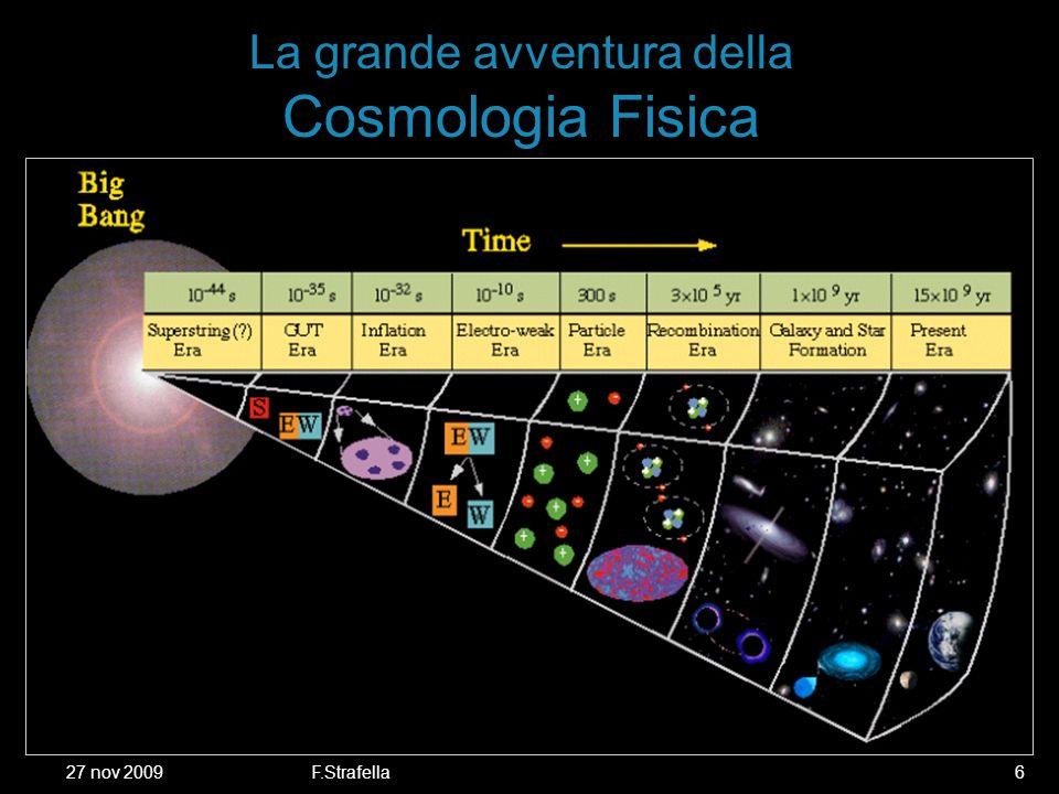 27 nov 2009F.Strafella6 La grande avventura della Cosmologia Fisica